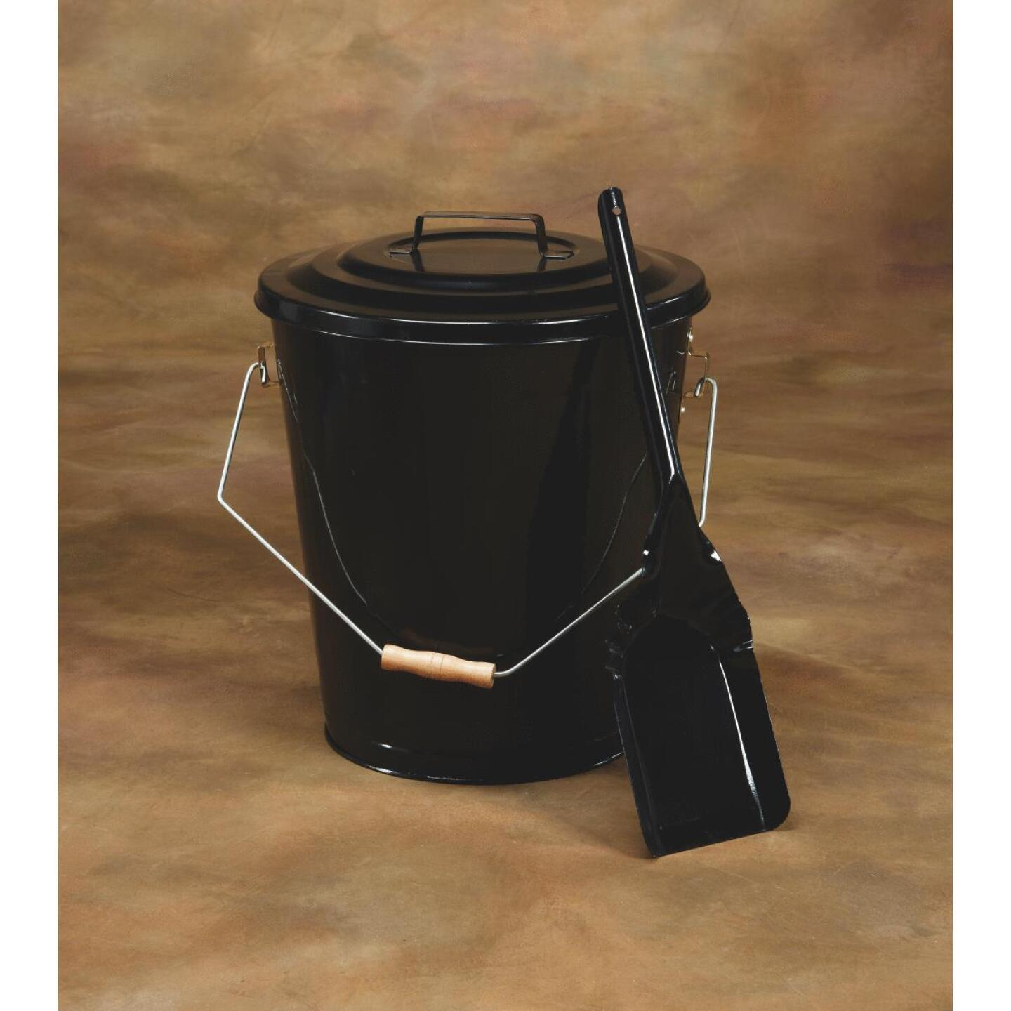 Home Impressions 13 In. W x 14 In. H Black Ash Container & Shovel Image 2