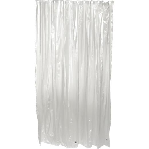 Zenith Frosted 70 In. x 72 In. Frost Vinyl Shower Curtain