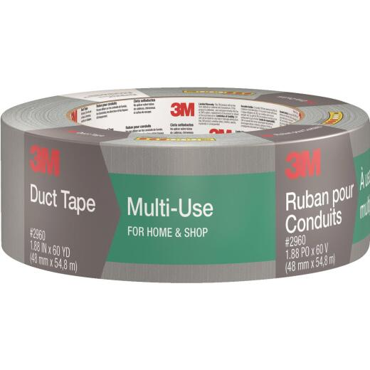 3M 1.88 In. x 60 Yd. Multi-Use Home & Shop Duct Tape, Gray