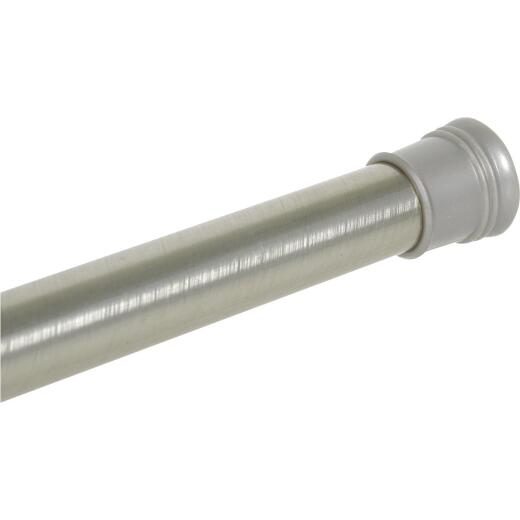 Zenith Straight 41 In. To 72 In. Adjustable Tension Shower Rod in Brushed Chrome