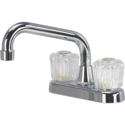 Home Impressions Chrome 4 In. Center 2-Handle Laundry Faucet