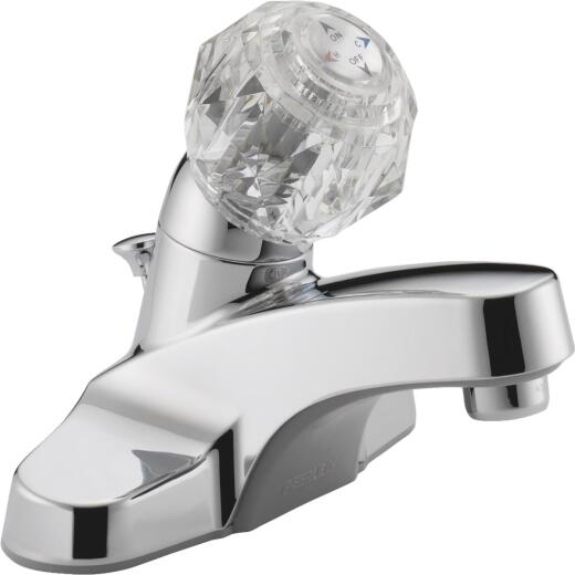 Peerless Core Chrome 1-Handle Knob 4 In. Centerset Bathroom Faucet with Pop-Up