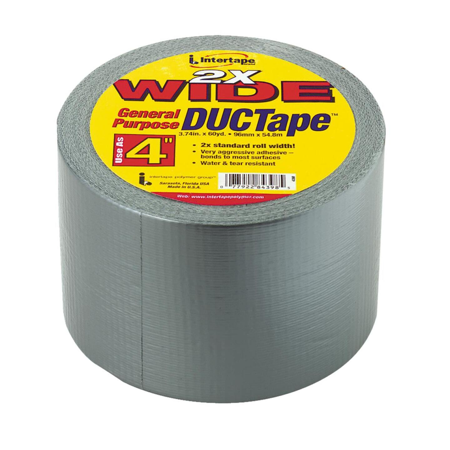 Intertape DUCTape 4 In. x 55 Yd. General Purpose Duct Tape, Silver Image 1
