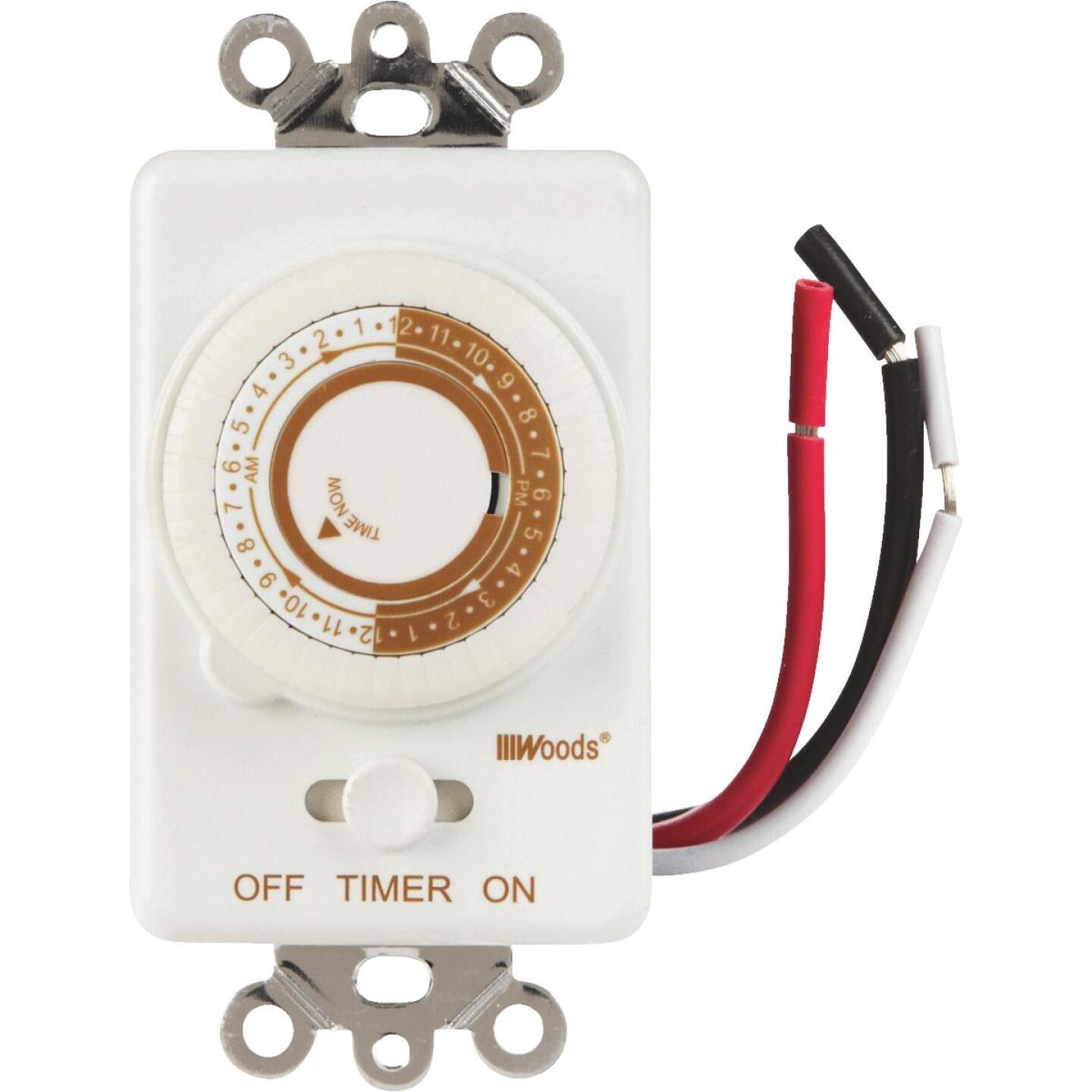 Woods 125V In-Wall 24-Hour Mechanical Timer Image 1
