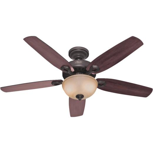 Hunter Builder Deluxe 52 In. New Bronze Ceiling Fan with Light Kit