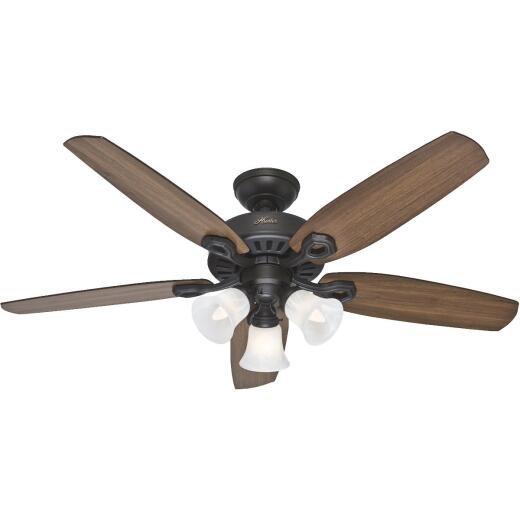 Hunter Builders Plus 52 In. New Bronze Ceiling Fan with Light Kit
