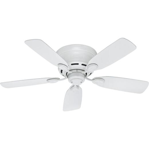 Hunter Low Profile IV 42 In. White Ceiling Fan