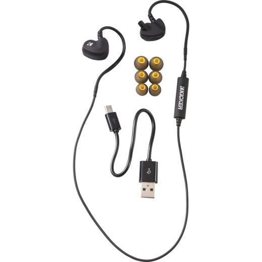 Kicker EB300 Bluetooth Black Earbuds