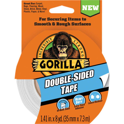 Gorilla 1.41 In. x 8 Yd. Double-Sided Duct Tape, Gray