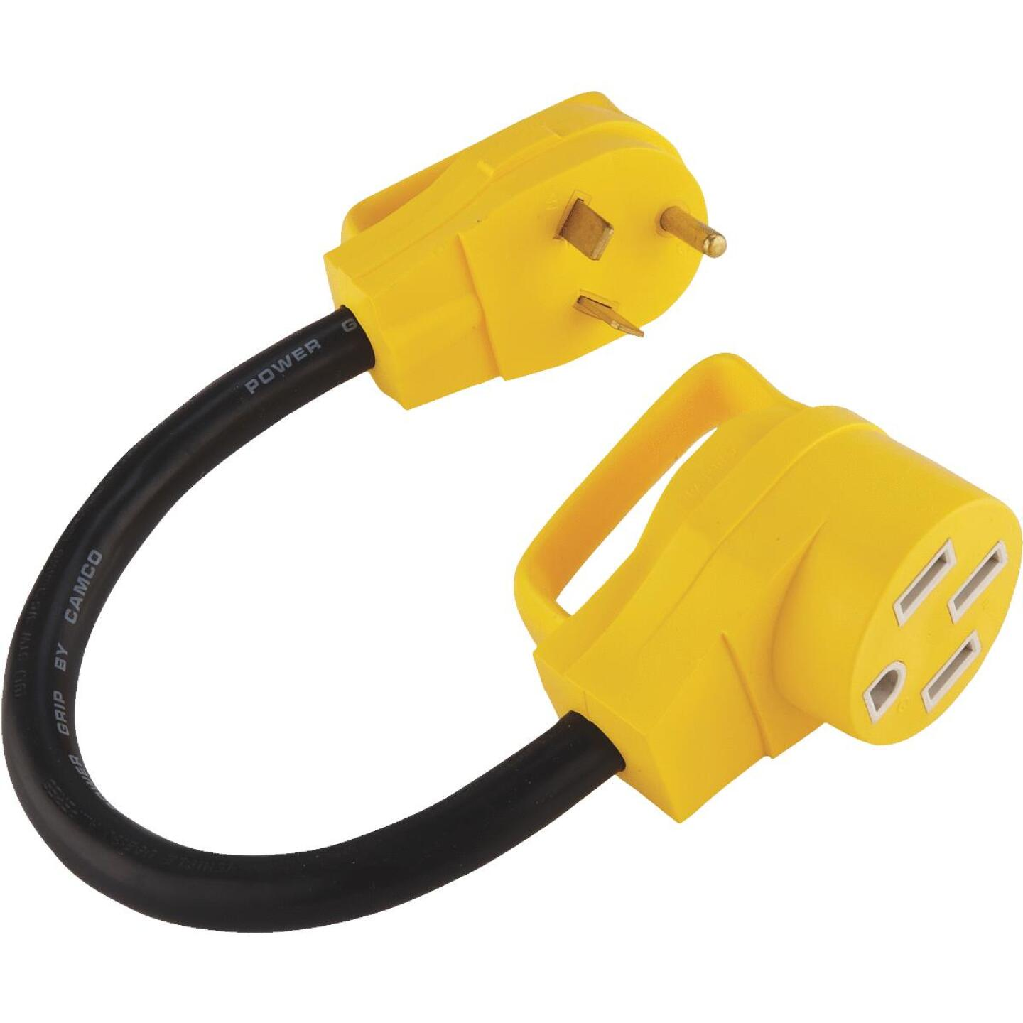 Camco PowerGrip 30A/50A Dogbone RV Power Cord Adapter Image 1