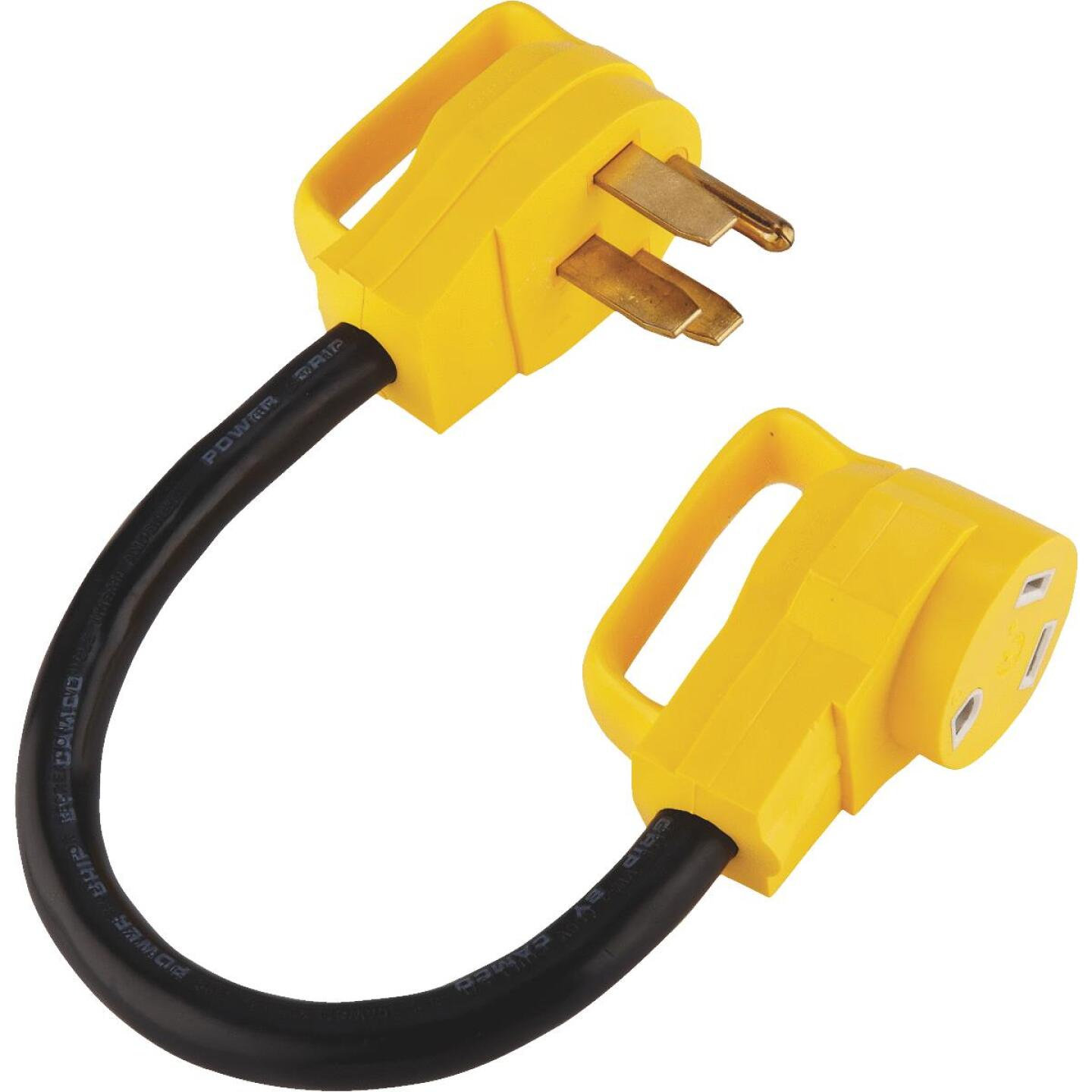 Camco PowerGrip 50A/30A Dogbone RV Power Cord Adapter Image 1