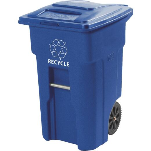 Toter 64 Gal. Recycling Trash Can with Lid