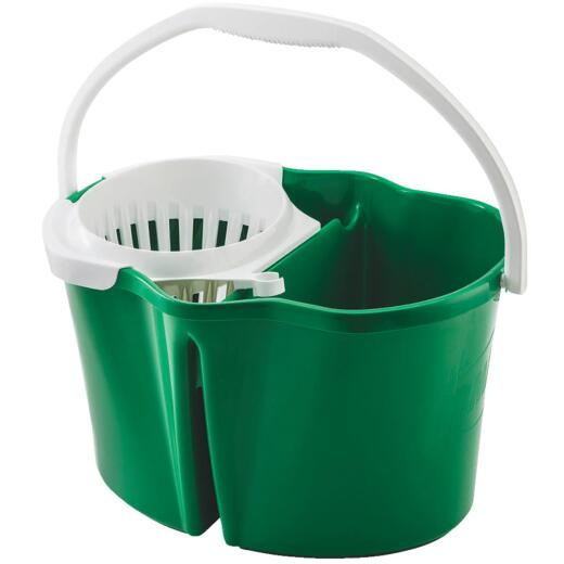 Libman 4 Gal. Green Clean & Rinse Bucket with Wringer