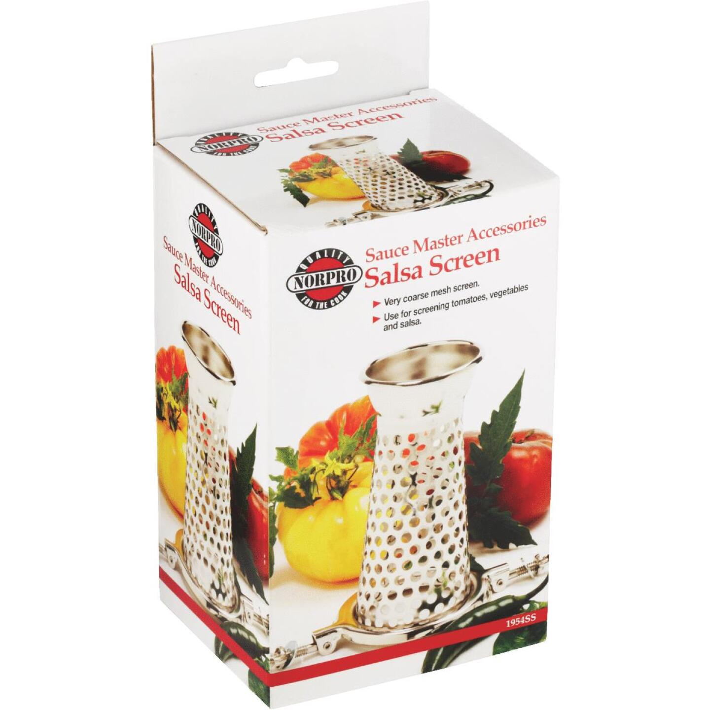 Sauce Master 6 In. x 3.5 In. Vegetable & Fruit Strainer - Salsa Screen Image 5