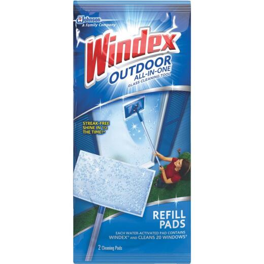 Windex Outdoor All-in-One Glass Cleaning Tool Refill Pads (2-Pack)