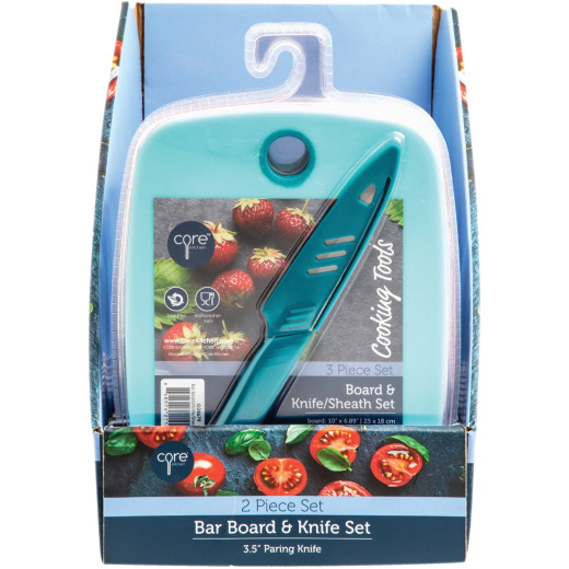 Core Kitchen Poly Bar Cutting Board and Knife Set