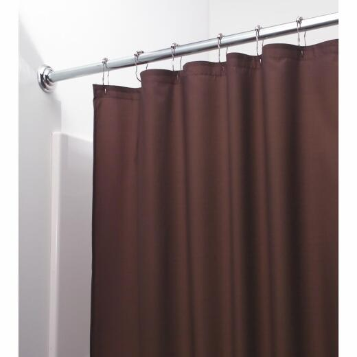 InterDesign 72 In. x 72 In. Chocolate Polyester Shower Curtain Liner