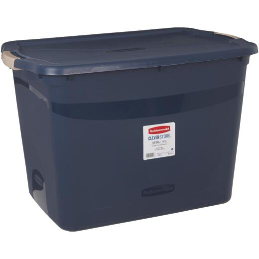 Rubbermaid Clever Store 36 Gal. Blue Tote