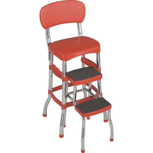 COSCO Retro Red 2-Step Stool Chair