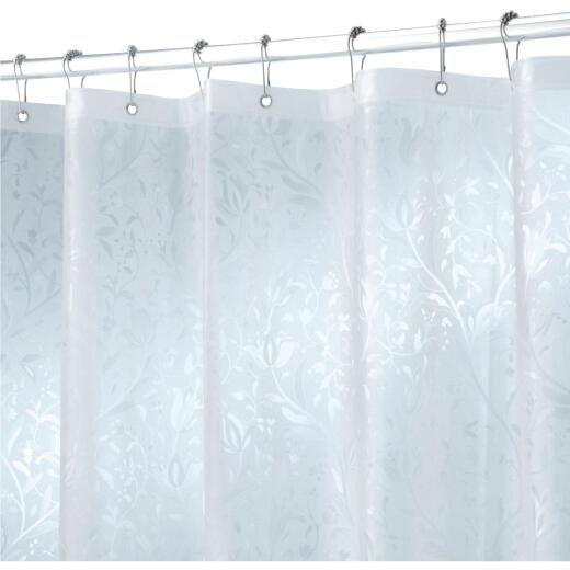 iDesign 72 In. x 72 In. Frosted Floral EVA Shower Curtain