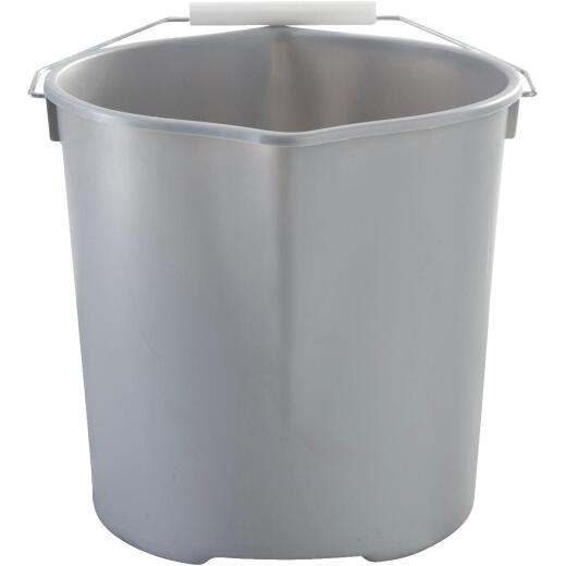 Quickie 11 Qt. Gray Heavy Duty Bucket