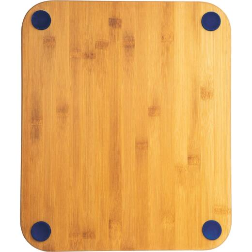 Core Natural Bamboo Sapphire 13.5 In. Foot Grip Cutting Board