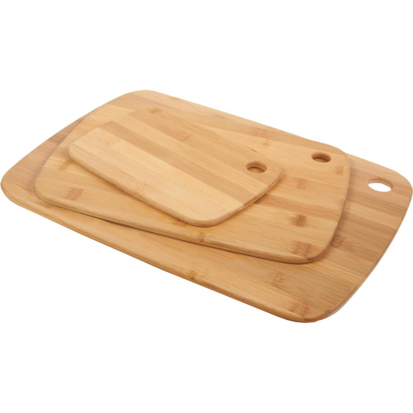 Core Classic Small/Medium/Large Natural Bamboo Cutting Board (3 Pack) Image 1