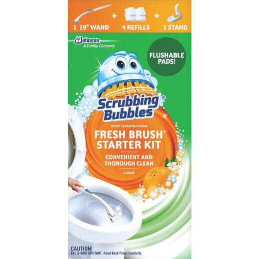 Scrubbing Bubbles Fresh Brush 19 In. Toilet Wand Kit