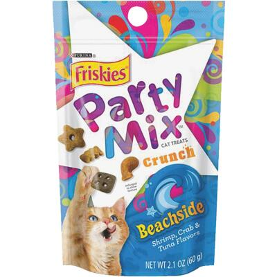 Purina Party Mix Beachside-Shrimp, Crab, & Tuna 2.1 Oz. Cat Treat