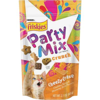 Purina Party Mix Cheezy Craze 2.1 Oz. Cat Treat