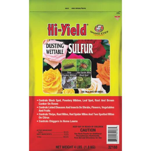 Hi-Yield 4 Lb. Powder Concentrate Wettable Sulphur Fungicide