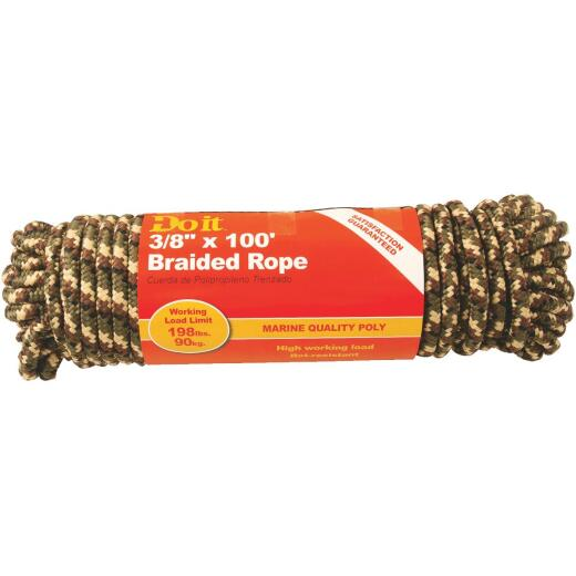 Do it 3/8 In. x 100 Ft. Camouflage Diamond Braided Polypropylene Packaged Rope
