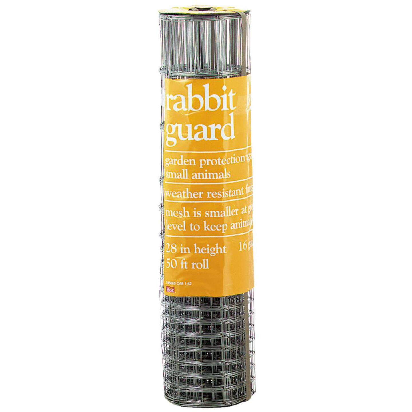 Rabbit Guard 40 In. H. x 50 Ft. L. Galvanized Wire Garden Fence, Silver Image 2