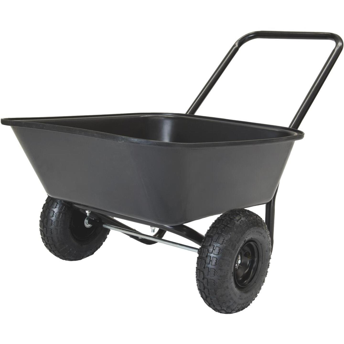 Marathon 3.5 Cu. Ft. Poly Wheelbarrow Image 1