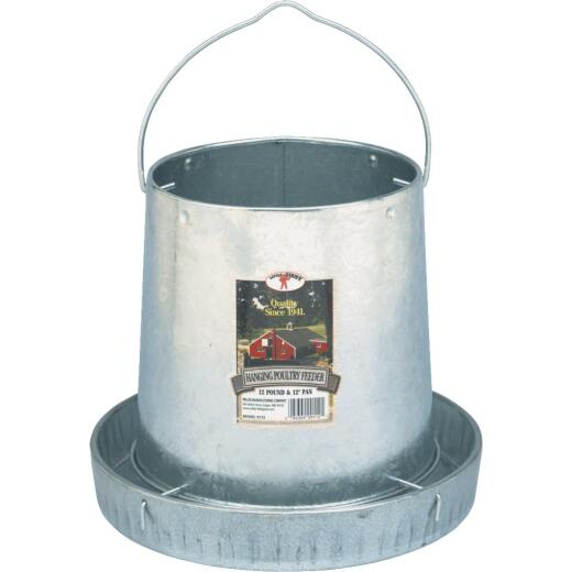 Little Giant 12 Lb. Capacity Hanging Galvanized Steel Poultry Feeder