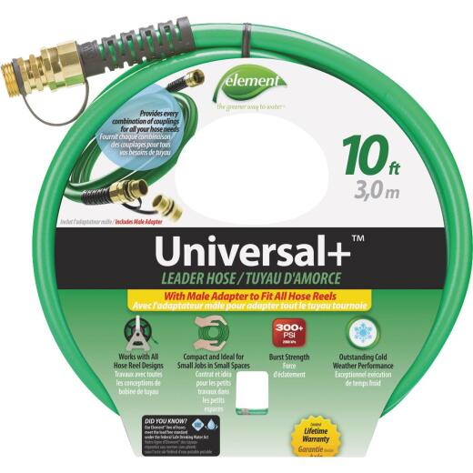Element 1/2 In. Dia. x 10 Ft. L. Drinking Water Safe Universal Leader Hose with Female Couplings