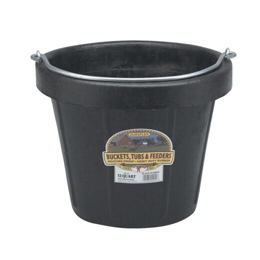 Little Giant Duraflex Heavy-Duty 12 Qt. 13 In. Rubber Utility Bucket