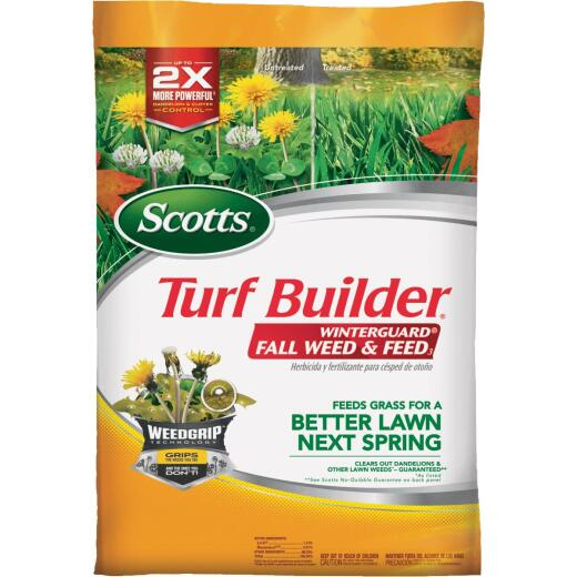 Scotts Turf Builder WinterGuard Weed & Feed 44.81 Lb. 15,000 Sq. Ft. 28-0-6 Winterizer Fall Fertilizer