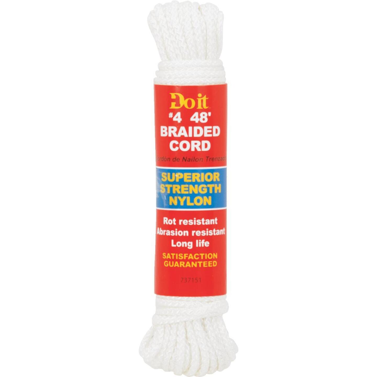 Do it 1/8 In. x 48 Ft. White Braided Nylon Packaged Rope Image 1