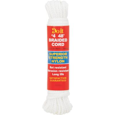 Do it 1/8 In. x 48 Ft. White Braided Nylon Packaged Rope