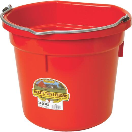 Little Giant Duraflex 20 Qt. Red Flat Back Bucket