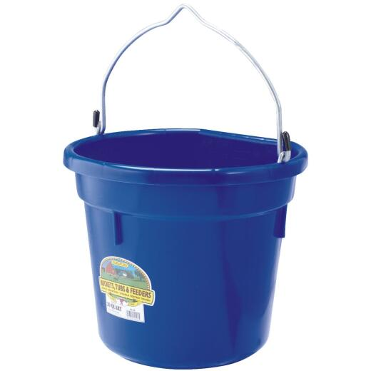 Little Giant Duraflex 20 Qt. Blue Flat Back Bucket