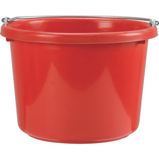 Little Giant Duraflex 8 Qt. Red Poly Bucket