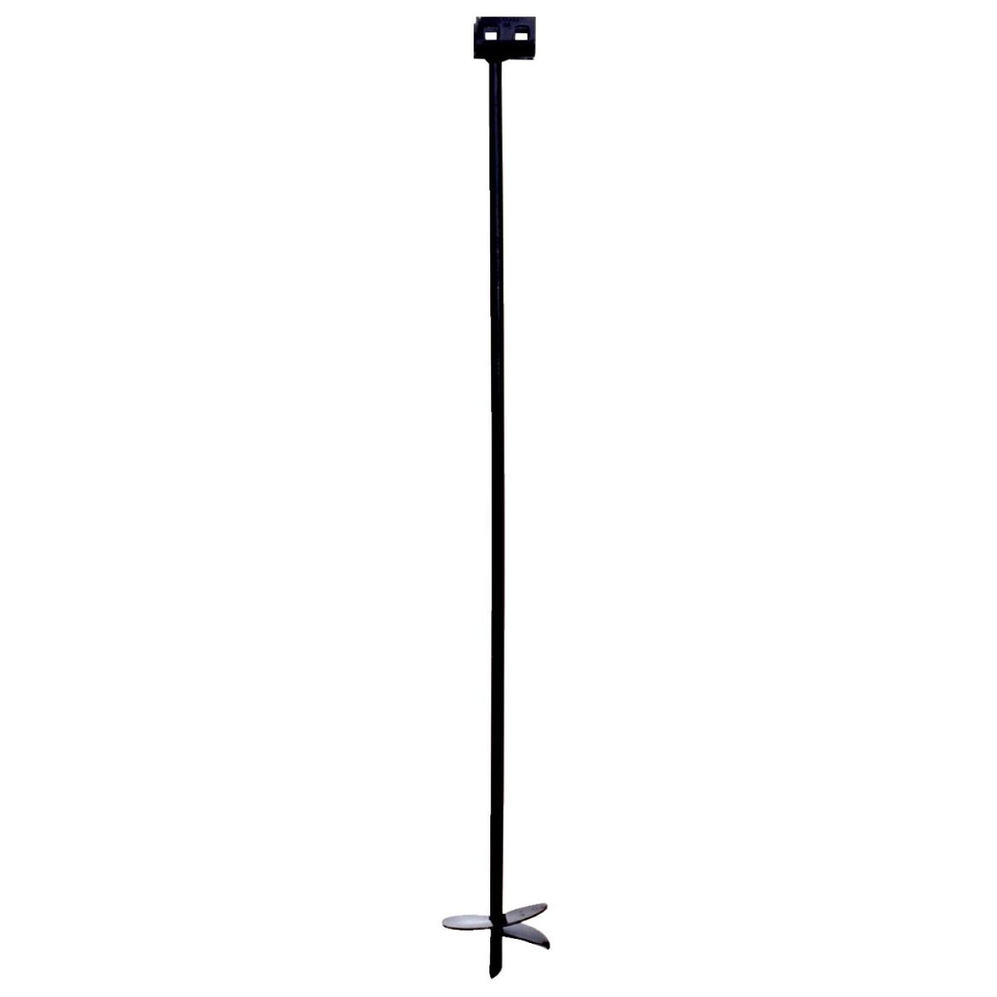 Tie Down 6 In. x 48 In. Black Iron Double Head Earth Anchor Image 1