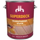 Duckback SUPERDECK Transparent Exterior Stain, Mission Brown, 1 Gal. Image 1