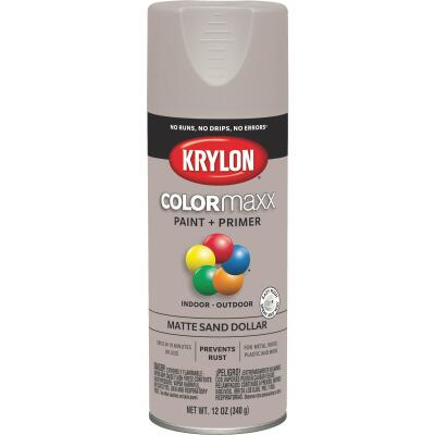 Krylon Colormaxx Matte Spray Paint & Primer, Sand Dollar