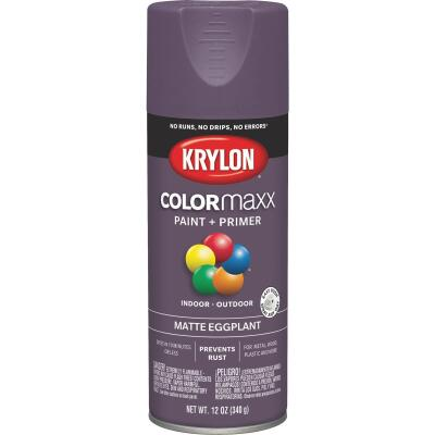 Krylon Colormaxx Matte Spray Paint & Primer, Eggplant
