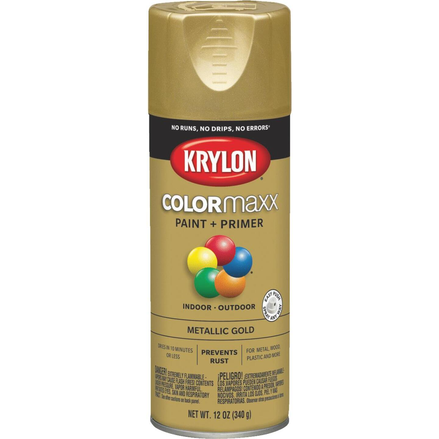 Krylon ColorMaxx 11 Oz. Metallic Gloss Spray Paint, Gold Image 1