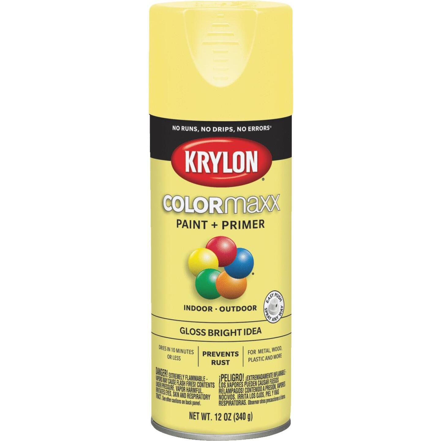 Krylon ColorMaxx 12 Oz. Gloss Spray Paint, Bright Idea Image 1