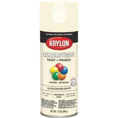 Krylon ColorMaxx 12 Oz. Gloss Spray Paint, Dover White